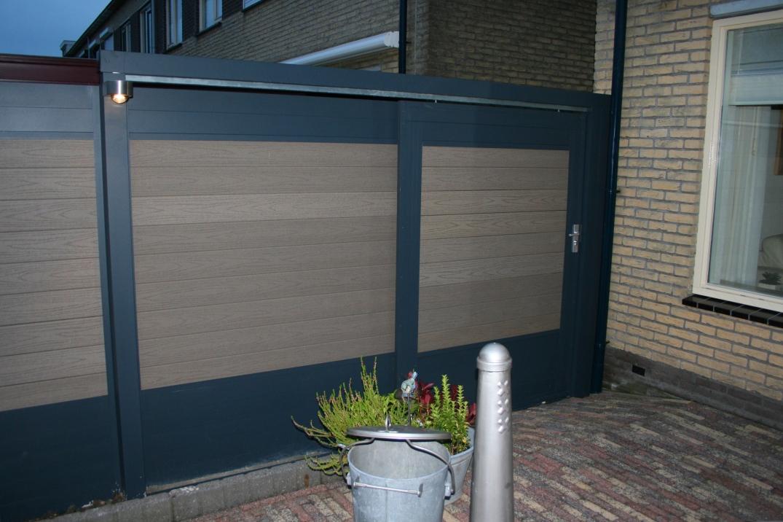 109. Aluminiumschutting composiet en deur